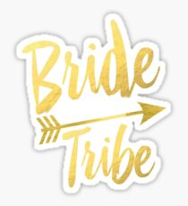 Bride Tribe Gold Foil Wedding Bachelorette Party Hens Night Favors Gifts Tribal Arrow Sticker