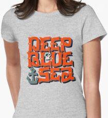 Deep Blue Sea Womens Fitted T-Shirt