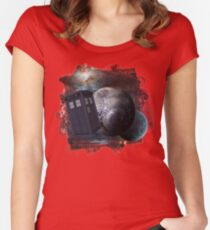 Time Flight 2 Women's Fitted Scoop T-Shirt
