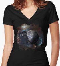 Time Flight 2 Women's Fitted V-Neck T-Shirt