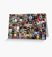 Classic rock covers - collage Greeting Card