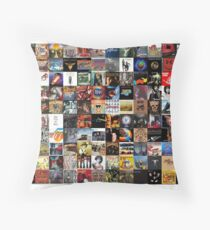 Classic rock covers - collage Throw Pillow