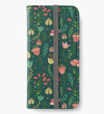 Floral pattern iPhone Wallet/Case/Skin