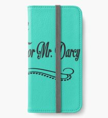PRIDE AND PREJUDICE JANE AUSTEN TAKEN WAITING FOR MR. DARCY iPhone Wallet/Case/Skin