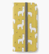 Alpaca - Mustard by Andrea Lauren iPhone Wallet/Case/Skin