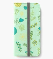 Elegance Seamless pattern with flowers, vector floral illustration in vintage style iPhone Wallet/Case/Skin