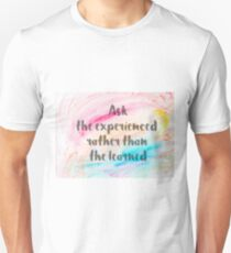Inspirational quote over water color background T-Shirt
