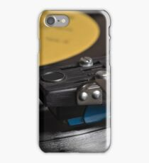 Vinyl record playing on a turntable iPhone Case/Skin