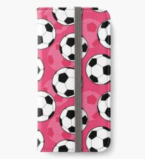 Girly Soccer Ball Pattern iPhone Wallet/Case/Skin