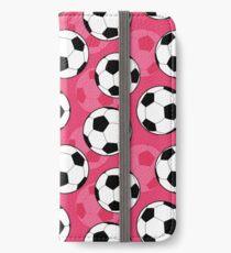 Vinilo o funda para iPhone Patrón femenino de pelota de fútbol