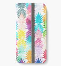 Hawaiian Pineapple Pattern Tropical Watercolor iPhone Wallet/Case/Skin