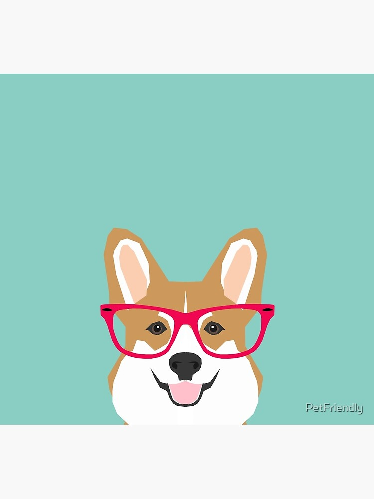 Teagan Glasses Corgi cute puppy welsh corgi gifts for dog lovers and pet owners love corgi puppies by PetFriendly