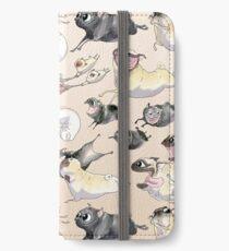 Möpse auf der Flucht! iPhone Flip-Case/Hülle/Klebefolie
