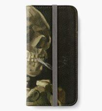 Vincent Van Gogh smoking skeleton iPhone Wallet/Case/Skin