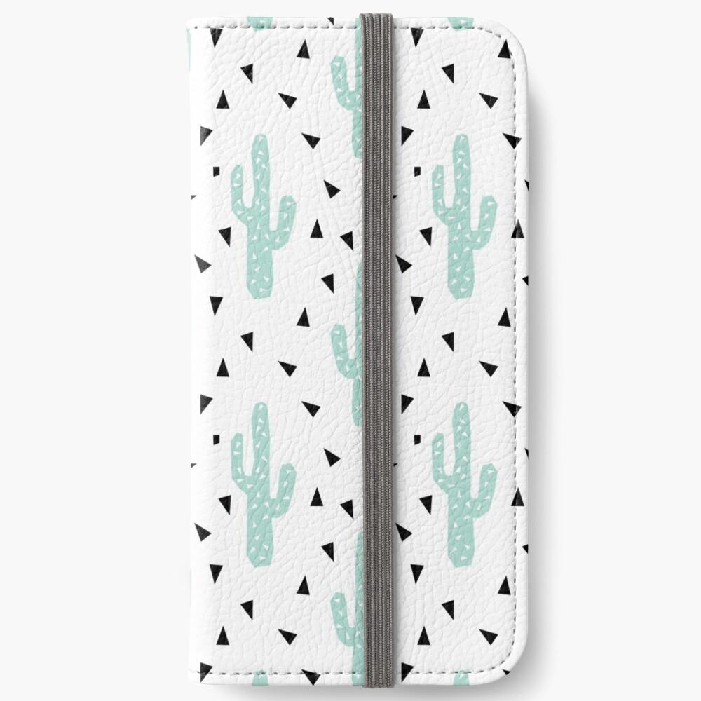 Kaktus - geometrisches modisches Hippie-Coachella Festival der modernen minimalen Musterdruckdreiecke iPhone Flip-Case