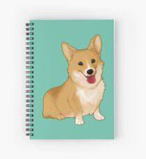Cuaderno de espiral Corgi sonriente linda