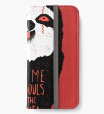 Böses Faultier iPhone Flip-Case/Hülle/Klebefolie
