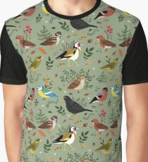 Garden Birds Graphic T-Shirt