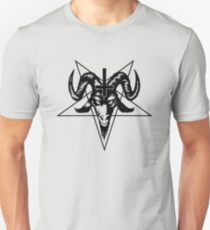 Satanic Goat Head with Pentagram (black) Unisex T-Shirt