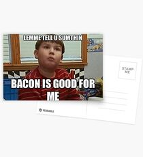 Bacon is good for me Postcards
