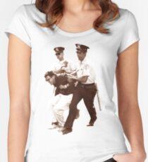 Bernie Sanders Arrested Women's Fitted Scoop T-Shirt