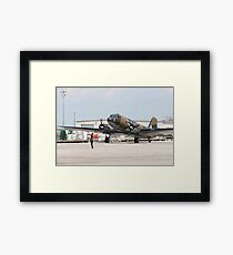 Two engines transport airplane Douglas DC-3 Dakota(C-47) the working hors of WWII on start line. Framed Print