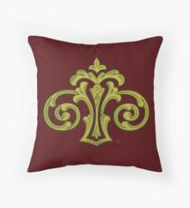 Showland Scroll - red Throw Pillow