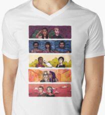 Camiseta para hombre de cuello en v Sense8 Rainbow