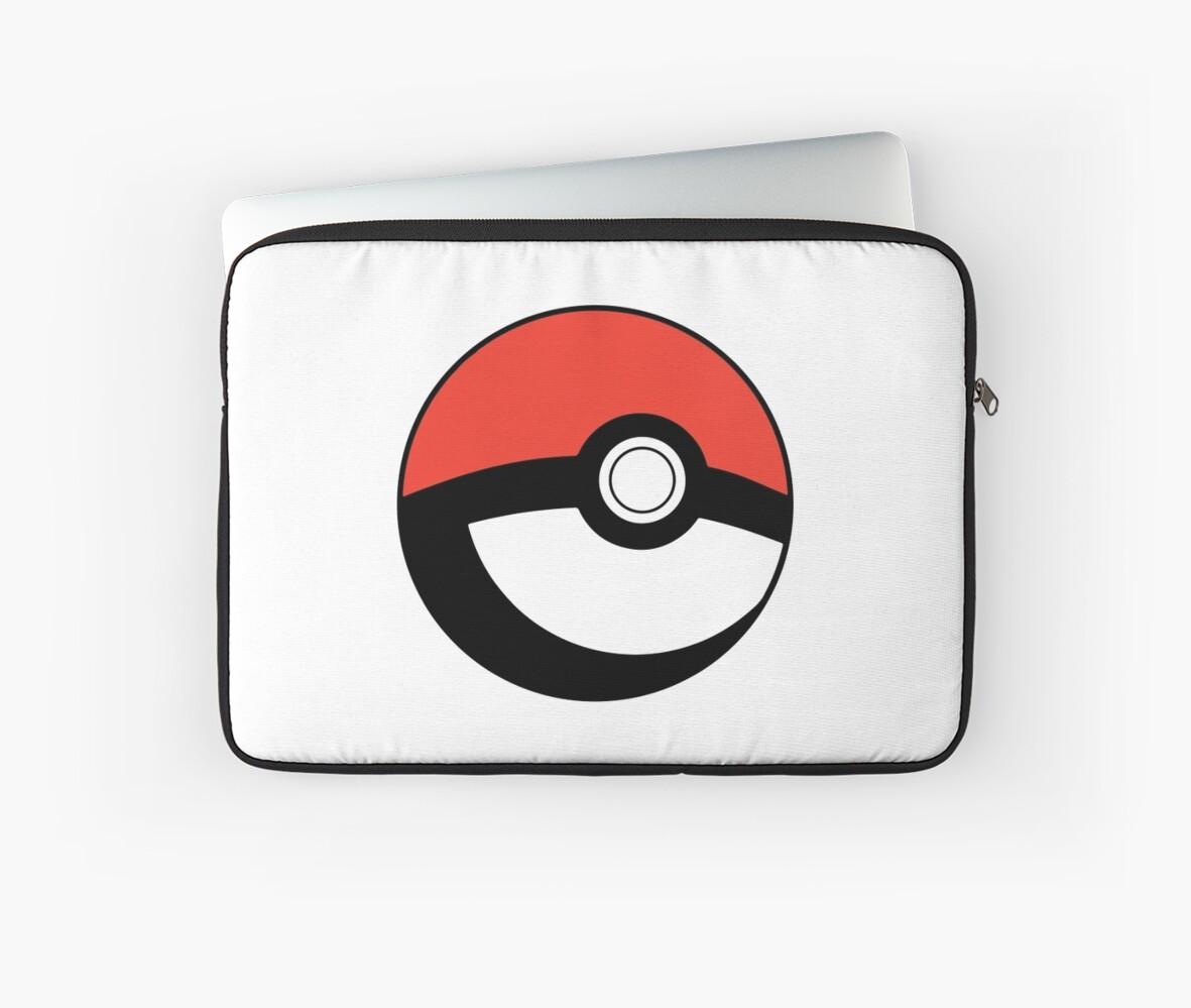 pokeball transparent laptop sleeves by artofcj redbubble