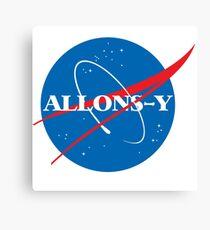 Allons-y NASA logo Canvas Print
