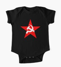 STAR, Red Star, Russia, Russian, Hammer and sickle, in five leg star. Communism, BLACK Kids Clothes