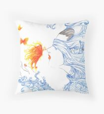 Kiss of the Butterfly Throw Pillow