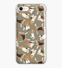beagle scatter stone iPhone Case/Skin
