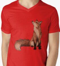 Roter Fuchs T-Shirt mit V-Ausschnitt