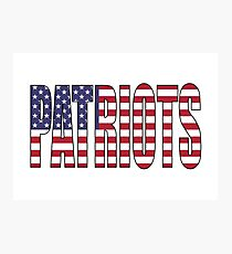 Patriots Photographic Print