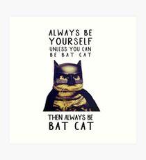 Cat meow super heroes Art Print