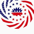 Libertarian Murican Patriot Flag Series by Carbon-Fibre Media