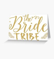 The Bride tribe Modern Gold Glitter Text Texture Greeting Card