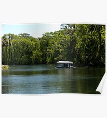 Glass Bottom Boat on Silver Springs Poster