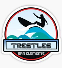 Surfing Trestles San Clemente California Surf Surfer Surfboard Waves Ocean Beach Vacation Sticker