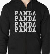 Panda Panda Desiigner - White Text Zipped Hoodie