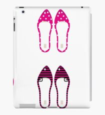 Female retro shoes collection - Pink iPad Case/Skin