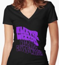 Electric Wizard, Legalise Drugs & Murder  Women's Fitted V-Neck T-Shirt