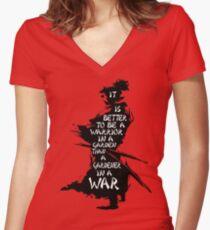 Warrior's Garden Women's Fitted V-Neck T-Shirt