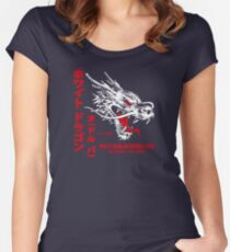 White Dragon Noodle Bar (aged look) Women's Fitted Scoop T-Shirt