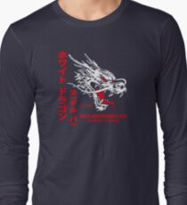 White Dragon Noodle Bar (aged look) Long Sleeve T-Shirt