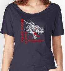 White Dragon Noodle Bar (aged look) Women's Relaxed Fit T-Shirt