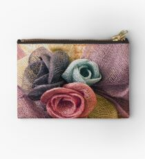 Raffia Roses on Hat  Studio Pouch