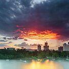 River Fire - Brisbane Qld Australia by Beth  Wode