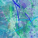 Aquatic Abstract - In Green And Blue by Printpix